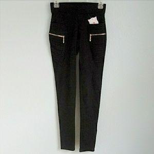 Pants - European Zip Moto Black Leggings